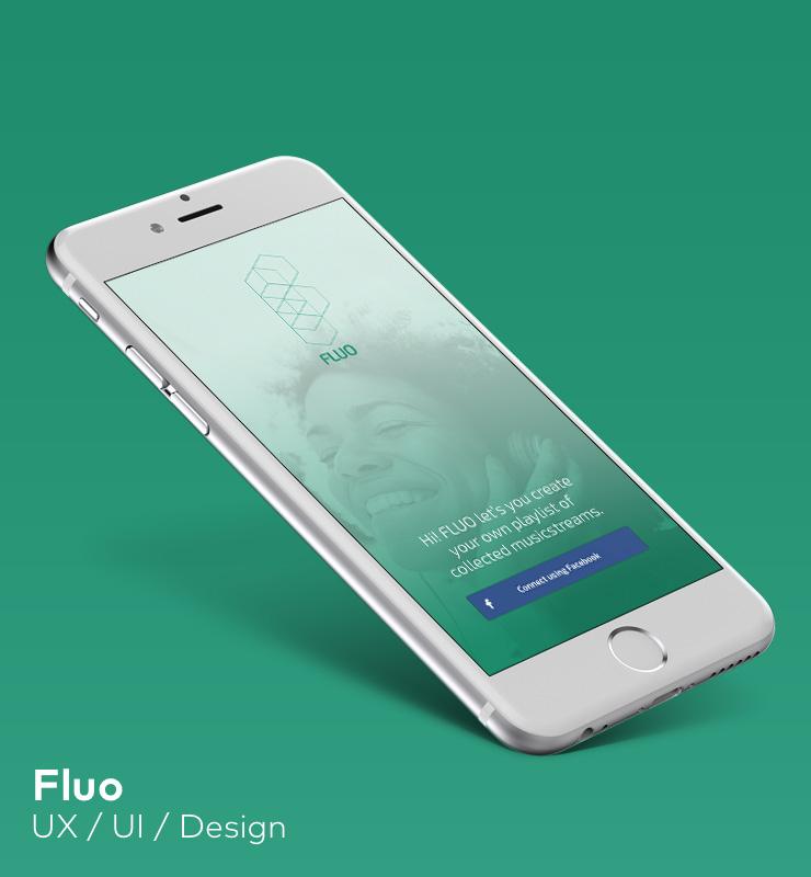 Fluo App mockup